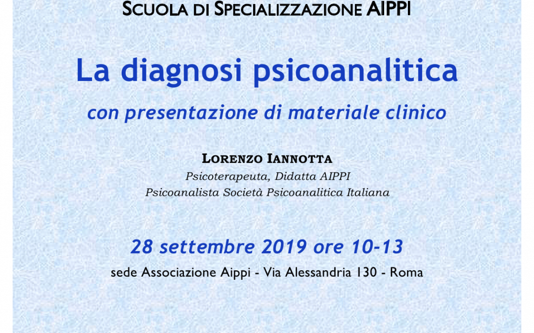 Open day – La diagnosi psicoanalitica