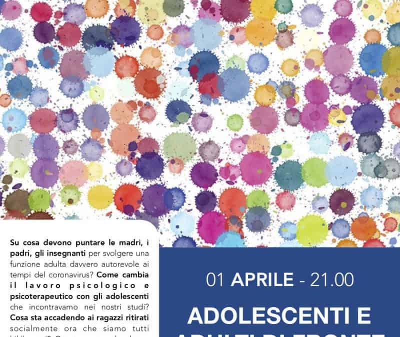 """Webinar dell'OPL """"Adolescenti e adulti di fronte al coronavirus"""". Matteo Lancini"""