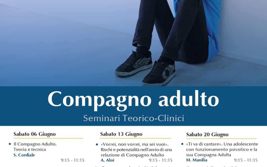 Riprendono i seminari sul Compagno Adulto. Iscrizioni entro il 30 maggio