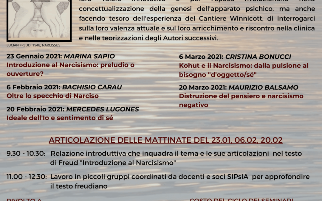"""Cantiere Freud 2021 """"Il Narcisismo"""""""